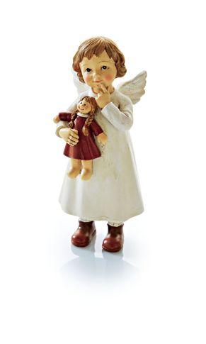 An diesem niedlichen, kleinen Engel kommt man nicht vorbei. Maße: ca. L6 x B5 x H14,5 cm, Material: Polyresin.<br>