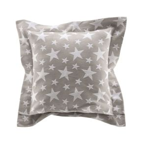 Eine schicke Kissenhülle mit einem modernen Sterne-Motiv. Mit Stehsaum, Maße: ca. 40 x 40 cm + 5 cm Saum, Gewicht: ca. 0,3 kg, Material: 80% Baumwolle, 20% Polyester.<br>