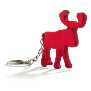 5 Schlüsselanhänger. Mit Schlüsselring, Maße: ca. B5 x T0,5 x H4,2 cm, Material: Aluminium.<br>