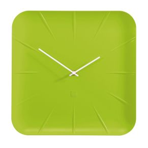 Diese Uhr ist mit einem sehr leisen Quarzuhrwerk, gleitenden Zeigern und vollverkleideter Rückwand ausgestattet. Die Front ist glasfrei, das Uhrwerk ist geschützt, Maße: ca. B35 x T4,5 x H35 cm, Material: Kunststoff.<br>