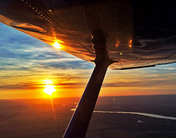 Wenn die Sonne den Horizont kuesst...