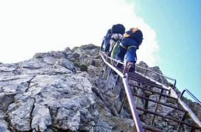 Dieser Klettersteig ist einfach Spitze.