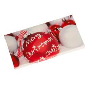 Gefüllte Präsentbox mit Weihnachtsmotiv. 6 Schokotäfelchen pro Geschenkbox, Sorten: Alpenmilch, Mandel, Knusperflakes, Halbbitter, Inhalt: ca. 30 g, Kakaogehalt: 30-50%, Maße: ca. B15,2 x H7,7 x T1,3 cm. Zutaten: Kakao: 30% mindestens. , Vollmilchsch