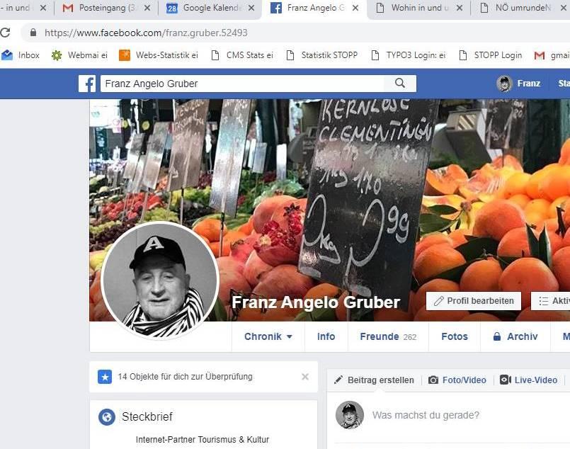 Facebookprofil Franz Angelo Gruber