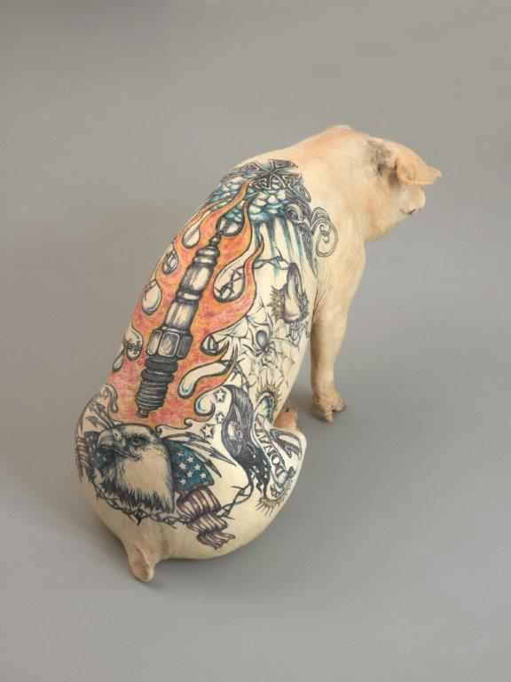 Tattoo auf Hunderücken