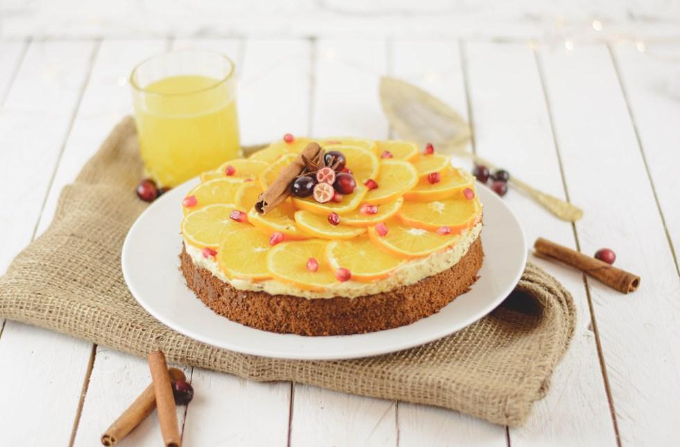 zuckerfreie Orangentorte