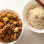 Hähnchen Würfel mit Peking Sauce