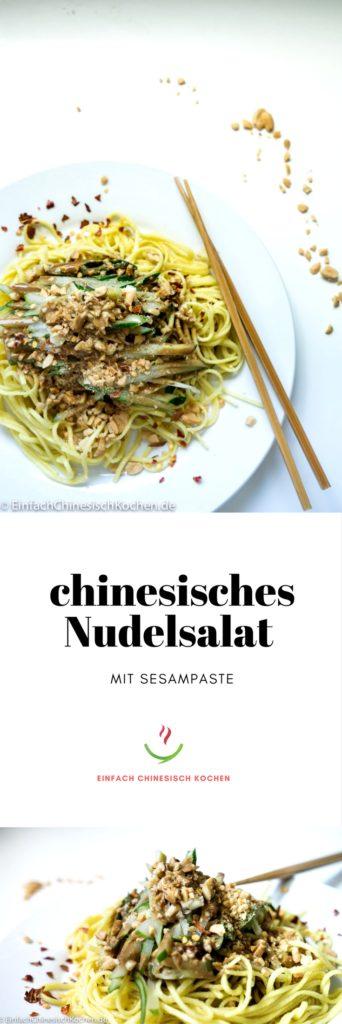 麻酱凉面_chinesisches Nudelsalat mit Sesampaste
