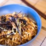 Nudeln mit Frühlingszwiebelöl nach Shanghai Style