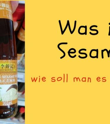 Sesamöl und Verwendung