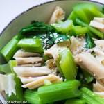 芹菜拌腐竹_Salat_Stangensellerie und Getrocknete Tofuhaut
