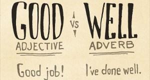 """Diferencias entre """"Good"""" y """"Well"""""""