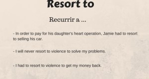 Phrasal verb of the day - Resort to