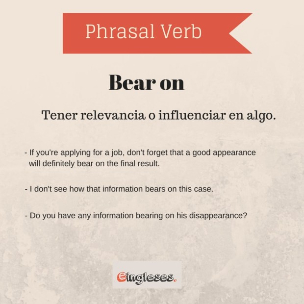 Phrasal Verb - Bear on