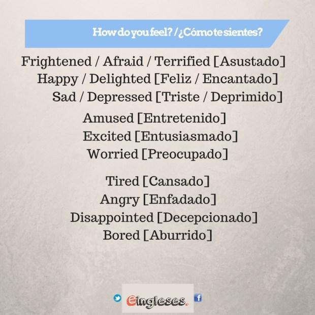 Otras Maneras de Decir Cómo te sientes