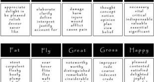 [Infografía] Sinónimos de funny, get, go, eager, end y muchos más