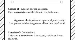 Verbos seguidos de la preposición of