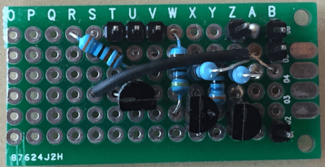 Fan controller soldered