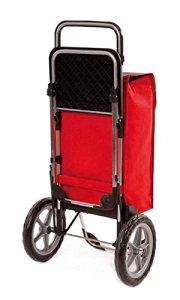 Einkaufstrolley Relax mit Sitz Einkaufshilfe mit Sitz Rueckansicht