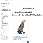Einkaufstrolley Übersicht / Einkaufstrolley Vergleich