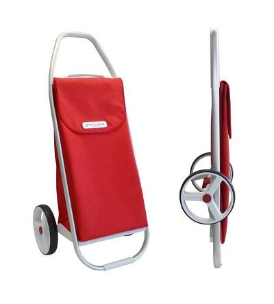 ROLSER Einkaufsroller Modell 8 - COM MF - Normal und zusammengeklappt- Einkaufstrolley-Vergleich.de