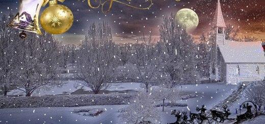 Merry Christmas-Einkaufstrolley-Vergleich