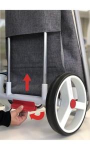 Der NEUE Einkaufsroller Rolser COM Tweed 8 - Klappmechanismus 1 - Außergewöhnliches Design - Einkaufstrolley-Vergleich.de