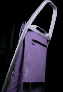 ROLSER Einkaufsroller COM Tweed 8 Aussentasche Rueckseite - Einkaufstrolley-Vergleich.de