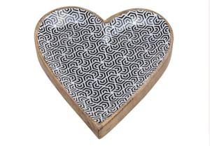 Herz aus Mangoholz Emaille - Best2buy24