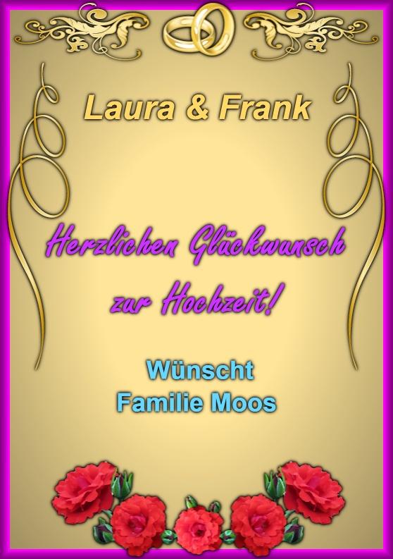Beispielkarte  Glckwnsche zur Hochzeit