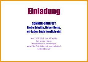 Einladungstext Fur Grillfest
