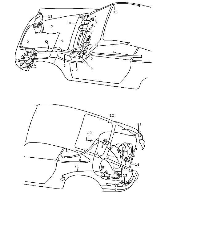 Porsche Porsche 911 1965-1969 Wiring harness NR. 1 tunnel