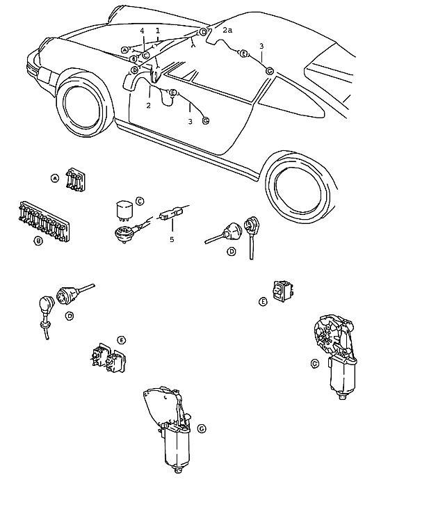 Porsche 911 1978-1983 Wiring harness power windows…