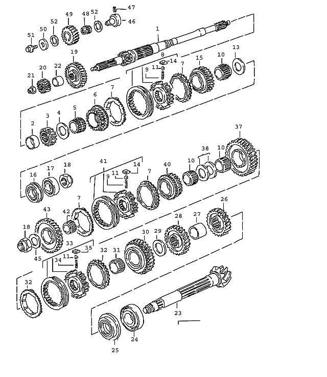 Porsche Porsche 911 1987-1989 Four-point bearing, (G50.00/…