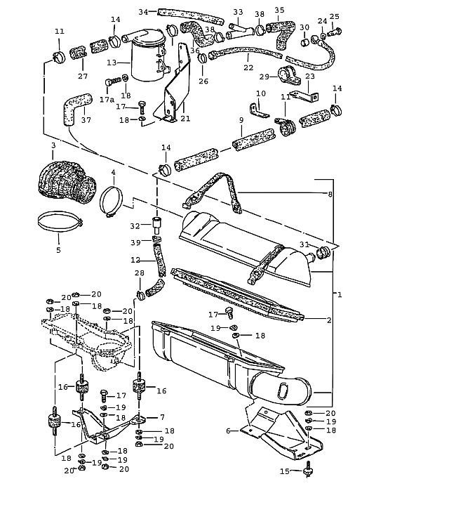 Porsche 924 1980-1985 Oil separator use also: until model