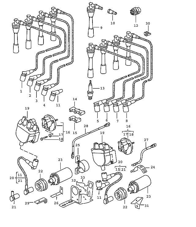 Porsche 928 1983-1986 Ignition starter switch