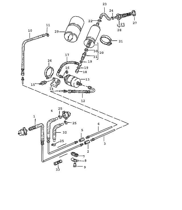 Porsche 944-2 1985-1988 Fuel pump check valve, 911/944/t/s