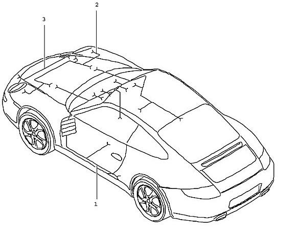 Porsche 997 2005-Pres Repair kit wiring harness when
