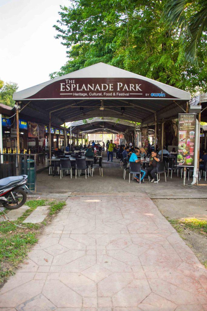 Malaysische Küche in George Town: Esplanade Park