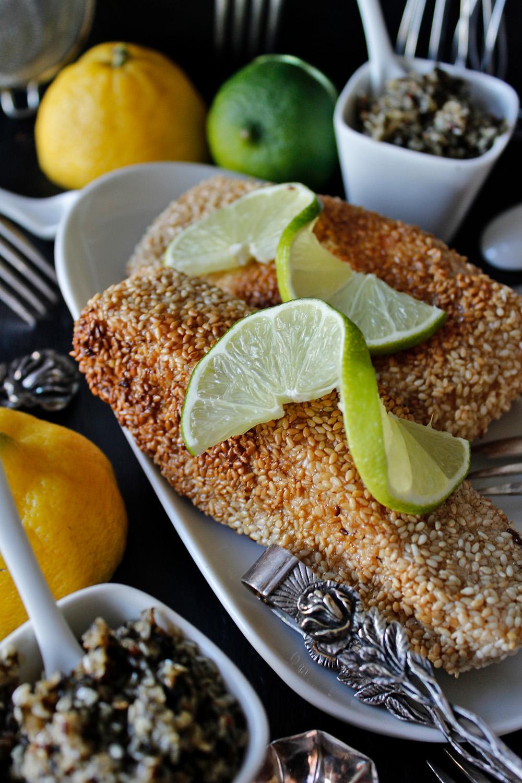 Rezept für Lachs in Sesamkruste von Einmal Nachschlag, bitte!