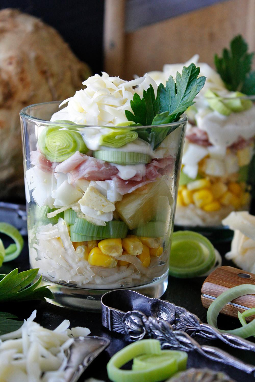 Rezept für Schichtsalat von Einmal Nachschlag, bitte!