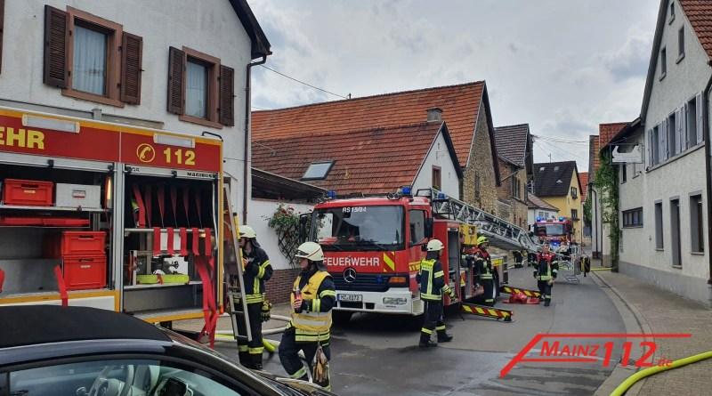 Küchenbrand in Guntersblum am 3.5.2020