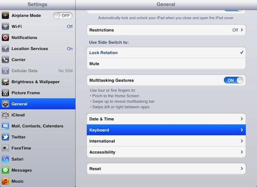 iPad íslenskt lyklaborð