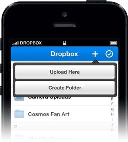 Dropbox upload mappa