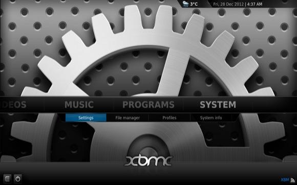 XBMC - System - Settings