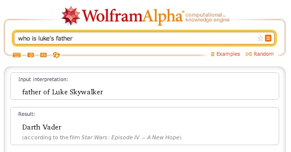 Wolfram Alpha - Luke's father