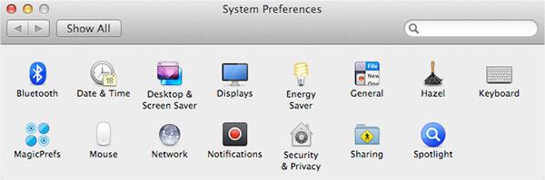 System Preferences - Breytingar