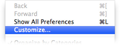 System Preferences - Customize