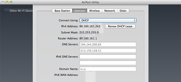 Airport Extreme - Internet