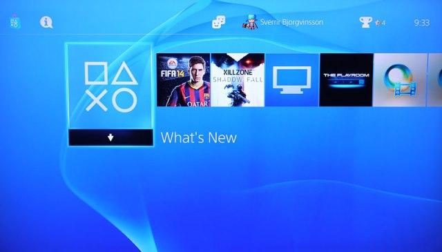 PS4 - Notendaviðmót